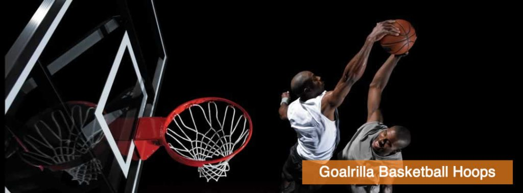 Basketball Player Dunking Basketball on a Goalrilla Inground Basketball Hoop