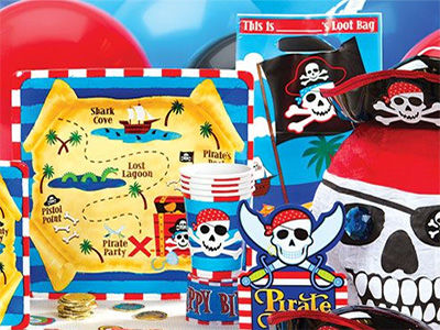 Pirate Theme Birthday Party Package Items.