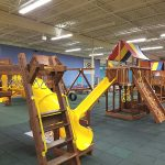 Giant Facility With Rainbow Playsets Making This A favorite Indoor Playground.