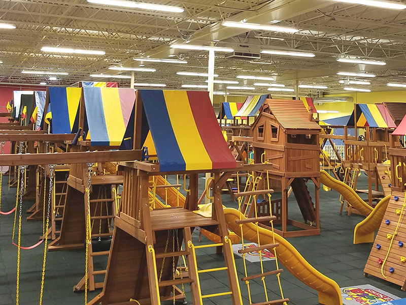 Adventure onto our Rainbow Playsets in a place that has Best Children's Birthday Party Place.