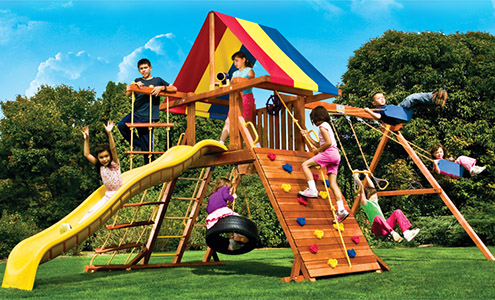 Compare Swing Sets Why Choose A Rainbow Swing Set