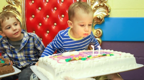 Huge Cake For A Toddler-Sized Party.