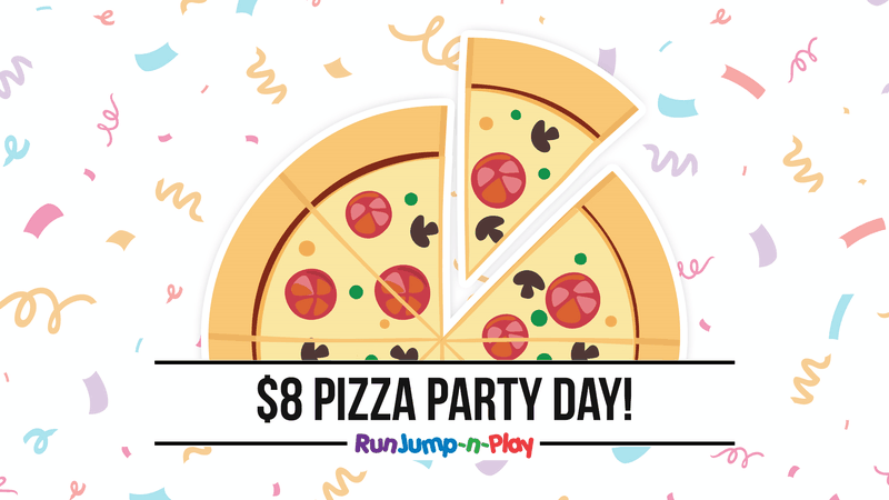 $8 Dollar Pizza Party Day - Children's activities