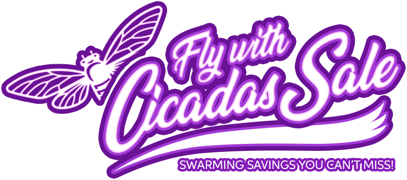 Fly with Cicadas Button Hero